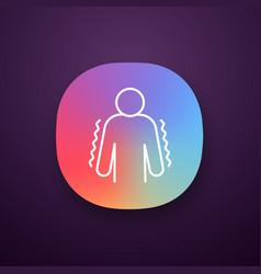 Trembling app icon vector