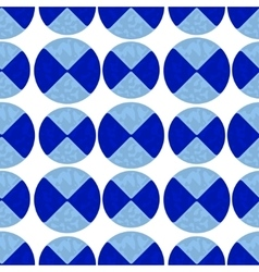 Two-color pattern of blue circles vector