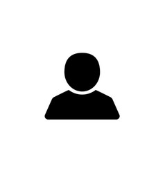 user silhouette icon vector image
