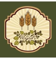 Vegetarian food menu design vector