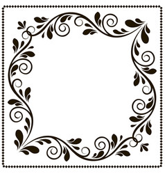 Vintage frame banner with patterns vector