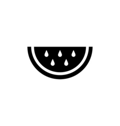 Watermelon icon flat vector