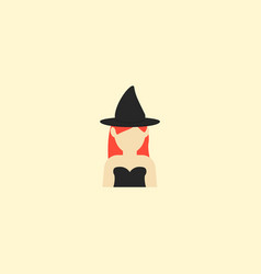 witch icon flat element of vector image