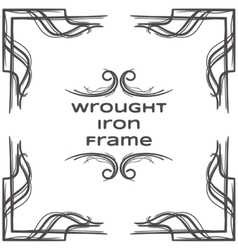 Wrought iron frame ten vector