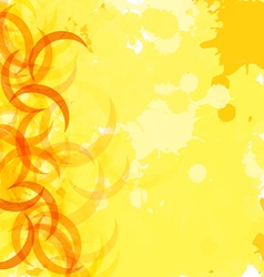 yellow vector image