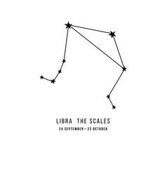 zodiac constellation libra vector image