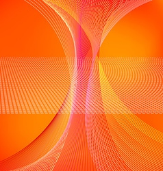Abstract background with orange lines vector image