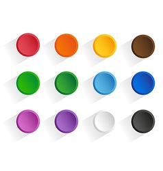 Buttons shadow vector image
