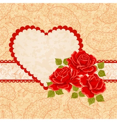 Floral background greeting card template vector image