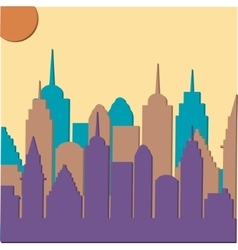 Morningt cityscape background vector image vector image