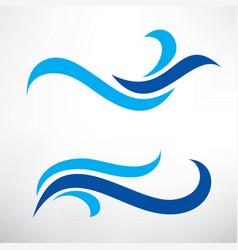 water wave set of stylized symbols design vector image vector image