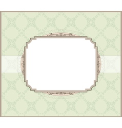 Wedding invitation card style vector