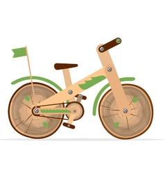 wooden bike vector image vector image