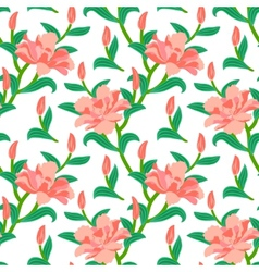 Floral seamless pattern with peony flowers vector image