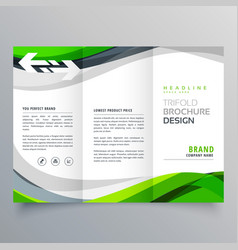 modern creative trifold business brochure vector image vector image
