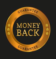 money back guarantee label vector image