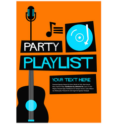 party playlist vector image