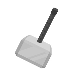 Viking battle hammer icon in monochrome style vector image vector image