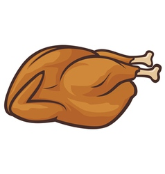 Whole roast turkey vector image vector image