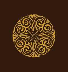 calligraphic logo template luxury retro vector image vector image