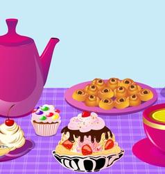 Cupcake Tea Party vector image vector image