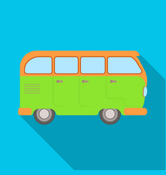 green bushippy single icon in flat style vector image