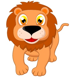 lion standing vector image vector image