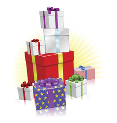 lots of presents concept vector image vector image