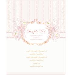 romantic flower invitation card vector image vector image