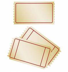 set of old paper tickets vector image vector image