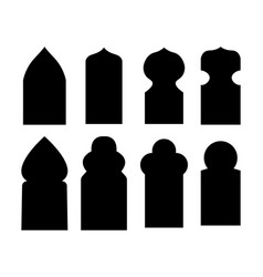 arabic arch windows and doors in traditional vector image