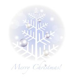 Christmas greetings postcard vector image