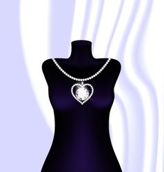 jewel necklace vector image vector image