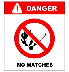 No smoking No open flame Fire open ignition vector image vector image