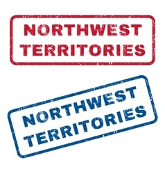 Northwest Territories Rubber Stamps vector image vector image