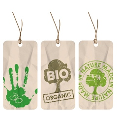 organic tags vector image vector image