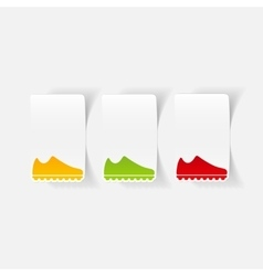 realistic design element sneakers vector image