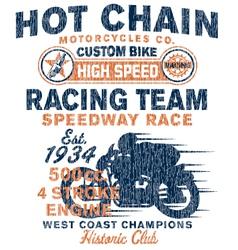 Vintage motorcycles racing team vector