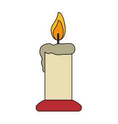 white background with candle lit vector image