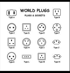 1258 world plugs vector image