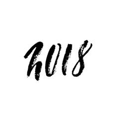 2018 happy new year beautiful greeting card vector