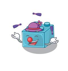 A lively lego brick toys cartoon character design vector