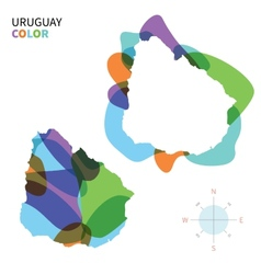 Abstract color map of Uruguay vector