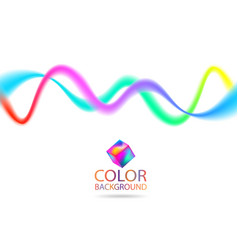 Abstract color wave lines design element with vector