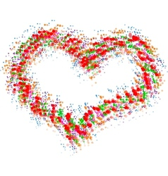 Abstract colorful heart isolated on white vector image