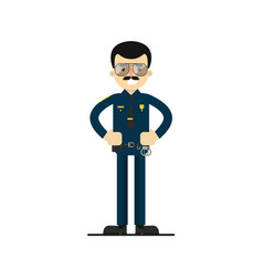 american policeman in uniform vector image