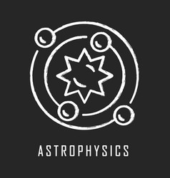 Astrophysics chalk icon astronomy branch study of vector