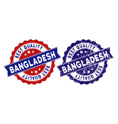 bangladesh best quality stamp with dust surface vector image
