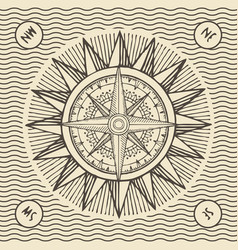 banner with sign sun and wind rose vector image