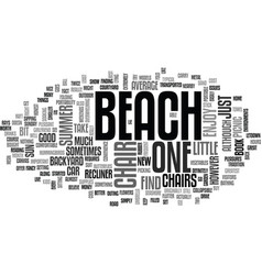 Beach chair text word cloud concept vector